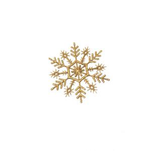 Gold Snowflake Christmas Ornament (Pack of 21)