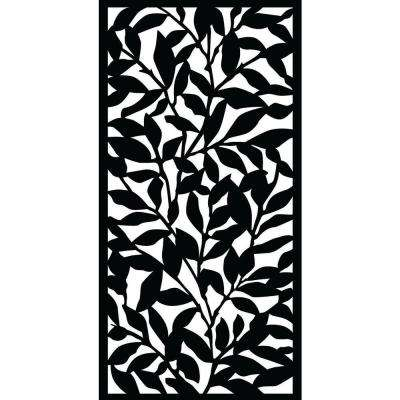 0.3 in. x 71 in. x 2.95 ft. Tangle Recycled Plastic Charcoal Decorative Screen (5-Piece per Bundle)