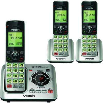 3 Handset Cordless Answering System with Caller ID and Call Waiting