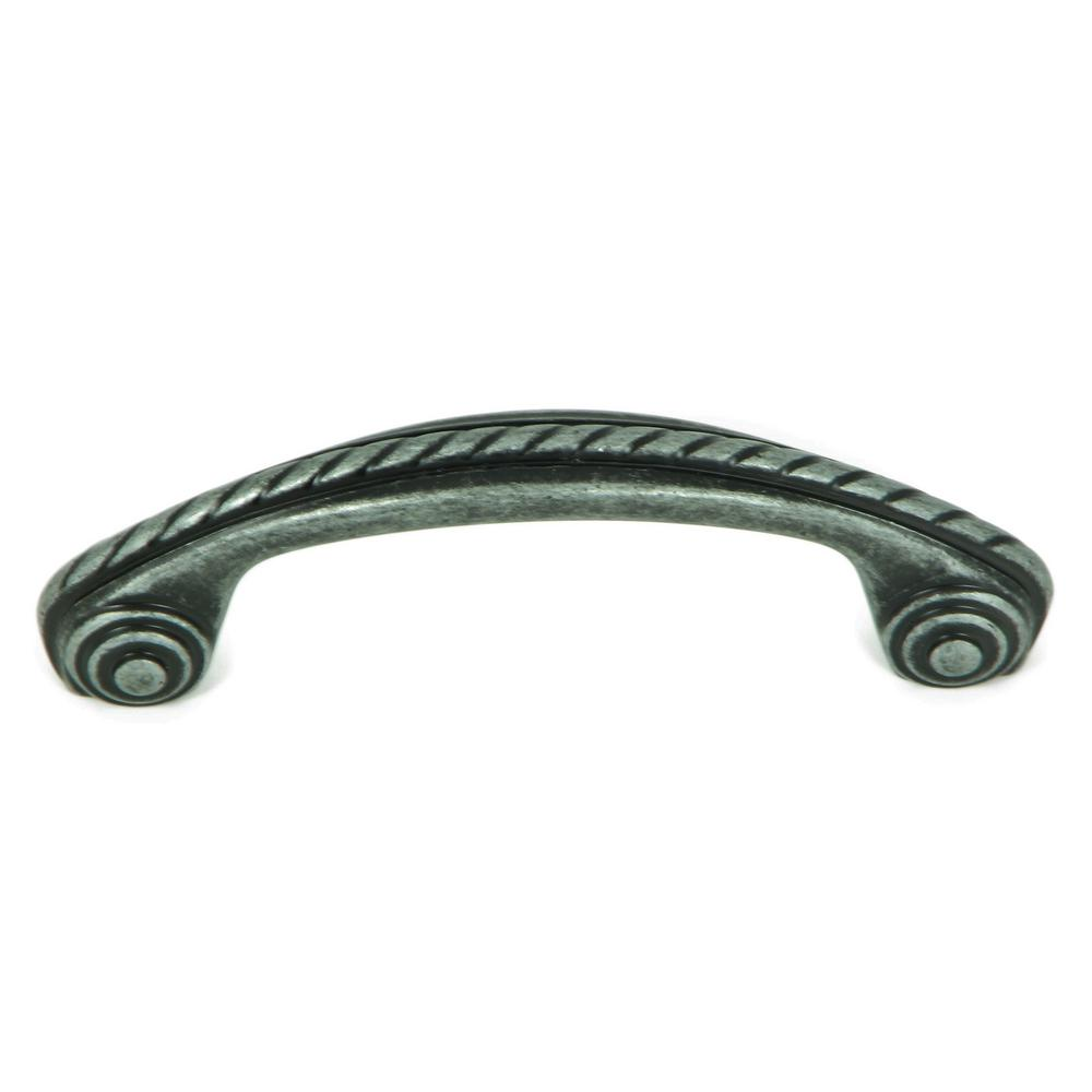 Charleston 3 in. Swedish Iron Rope Design Arch Cabinet Pull (10-Pack)