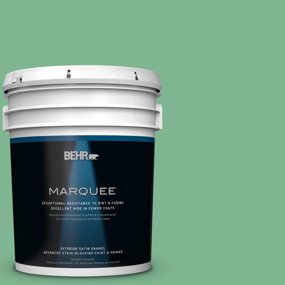 BEHR MARQUEE 5-gal. #BIC-40 Veiled Chameleon Satin Enamel Exterior Paint