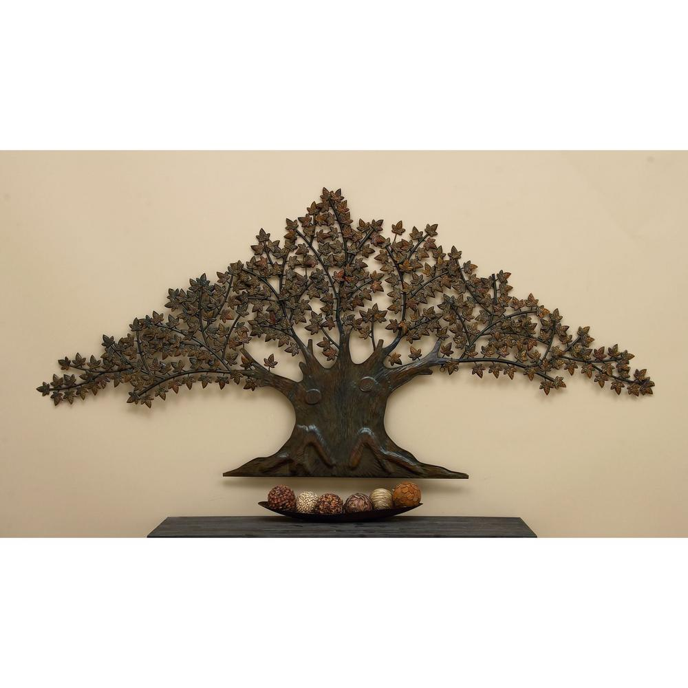 92 in. Tree of Life with Laser-Cut Leaves Wall Decor