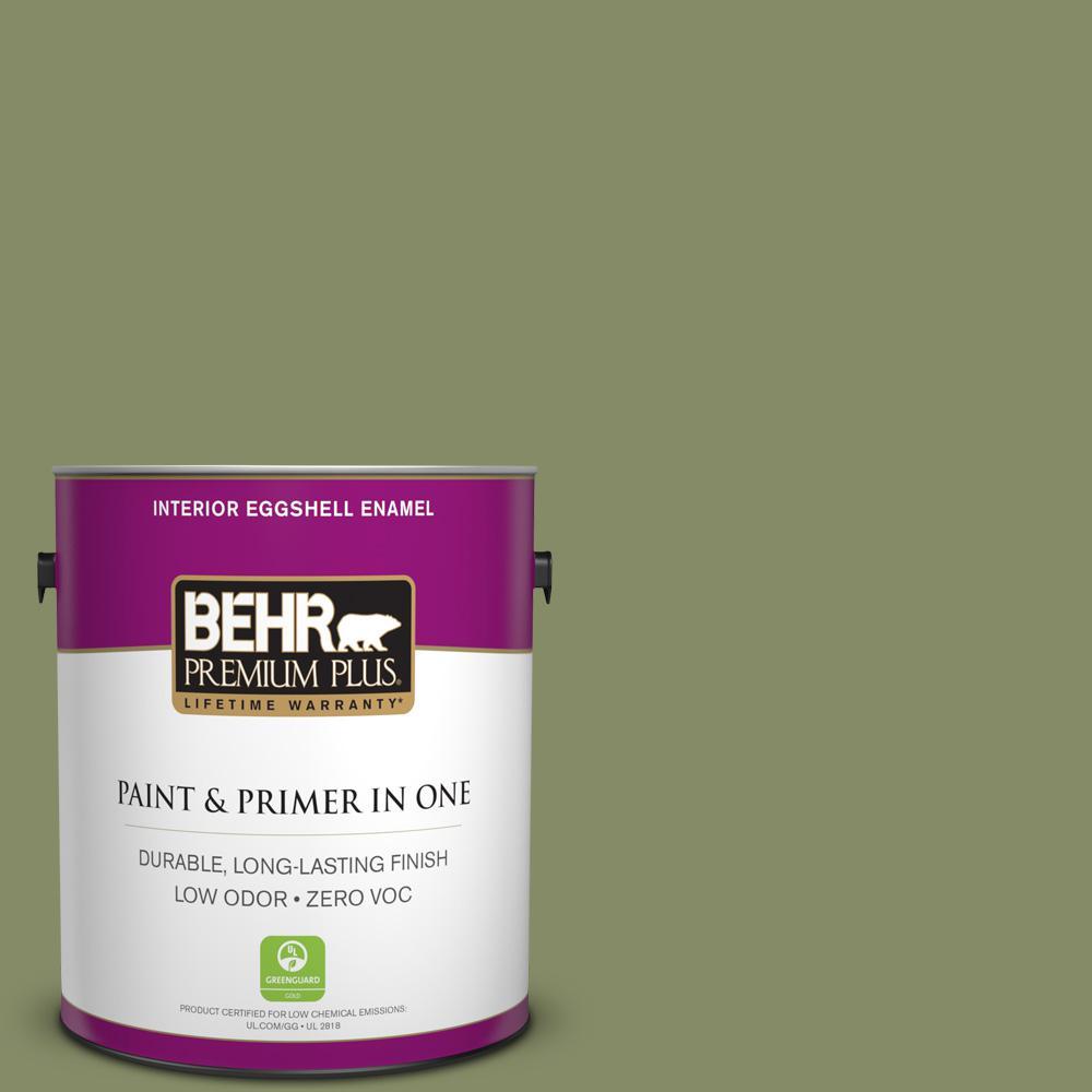 BEHR Premium Plus 1-gal. #S370-5 Pesto Paste Eggshell Enamel Interior Paint