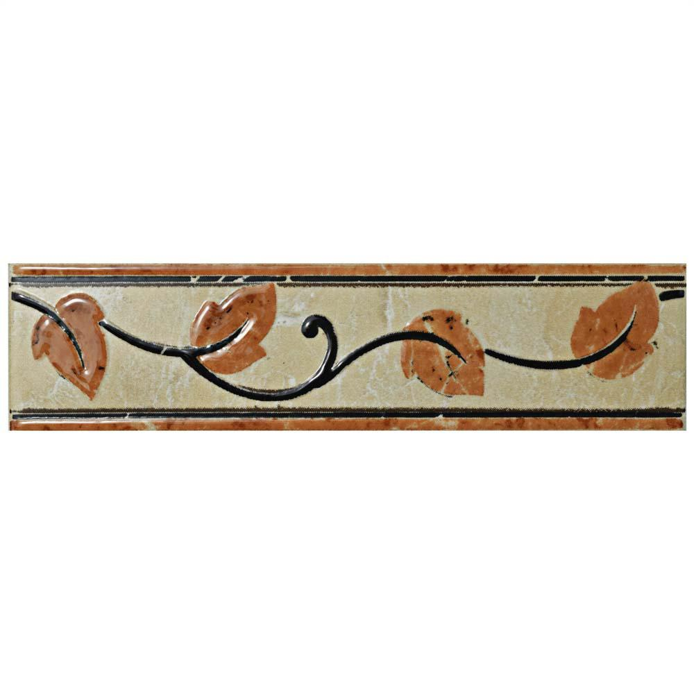 Beigecream decorative accents tile the home depot aroas listello arena 2 in x 8 in ceramic wall trim tile dailygadgetfo Images