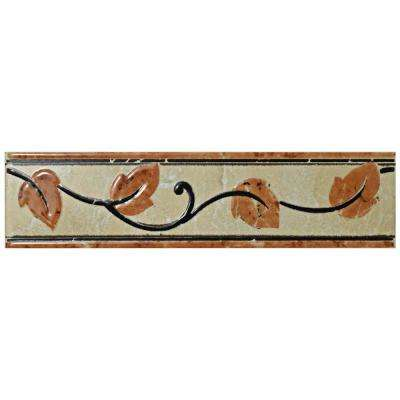Aroas Listello Arena 2 in. x 8 in. Ceramic Wall Trim Tile