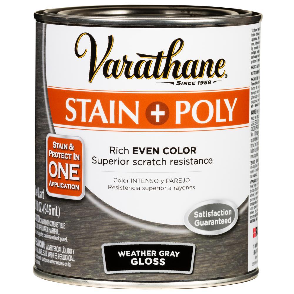 Varathane 1 Qt. Weathered Gray Gloss Oil-Based Interior
