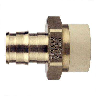 1/2 in. Brass PEX-A Barb x 1/2 in. CPVC Straight Adapter