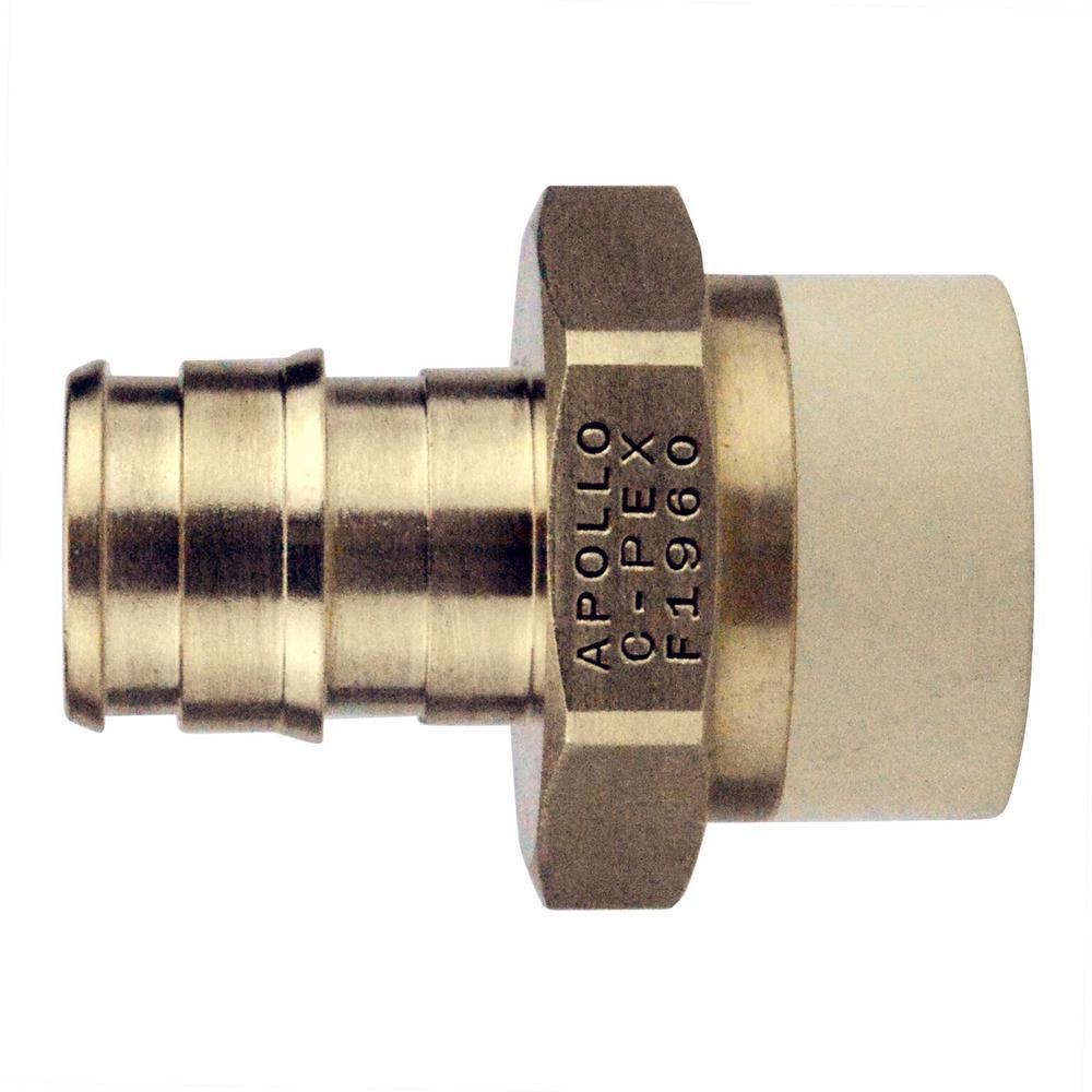 Apollo 1/2 in. Brass PEX-A Barb x 1/2 in. CPVC Straight Adapter