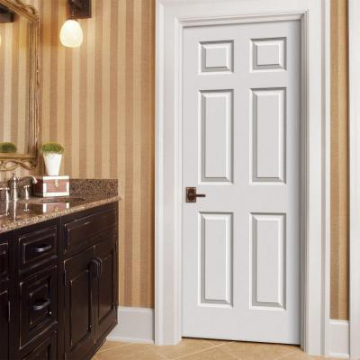 36 in. x 80 in. Colonist Primed Right-Hand Textured Molded Composite MDF Single Prehung Interior Door