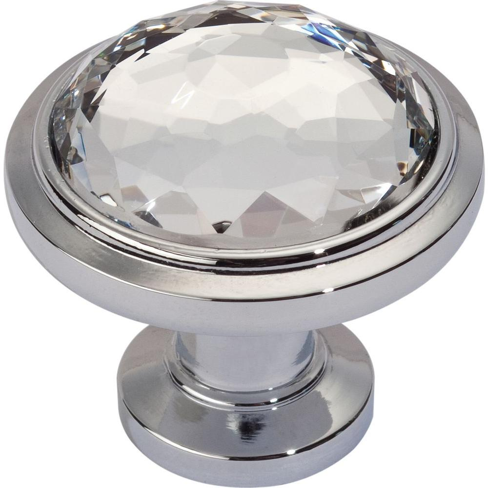 Legacy Crystal Collection 1-1/4 in. Polished Chrome Round Cabinet Knob