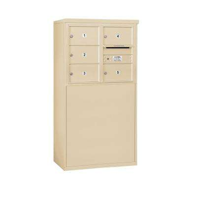 3900 Horizontal Series 5-Compartment Free Standing Mailbox