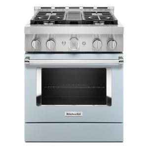 Kitchenaid 30 In 4 1 Cu Ft Smart Commercial Style Gas