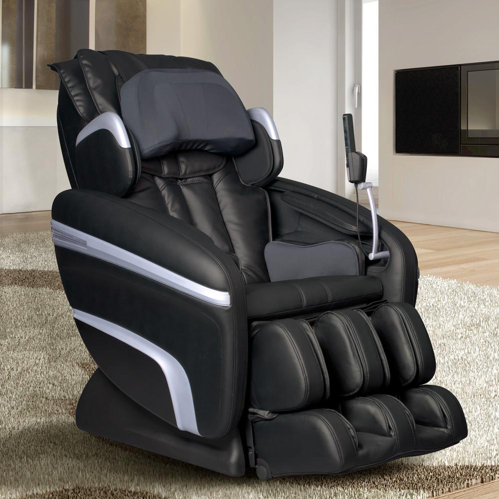 Merveilleux TITAN Osaki Black Faux Leather Reclining Massage Chair