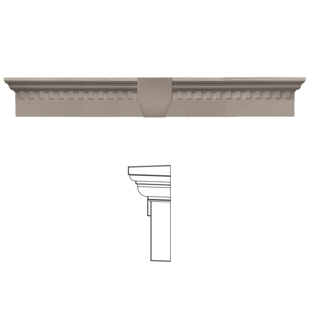 6 in. x 37 5/8 in. Classic Dentil Window Header with