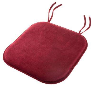 Red Memory Foam Chair Pad