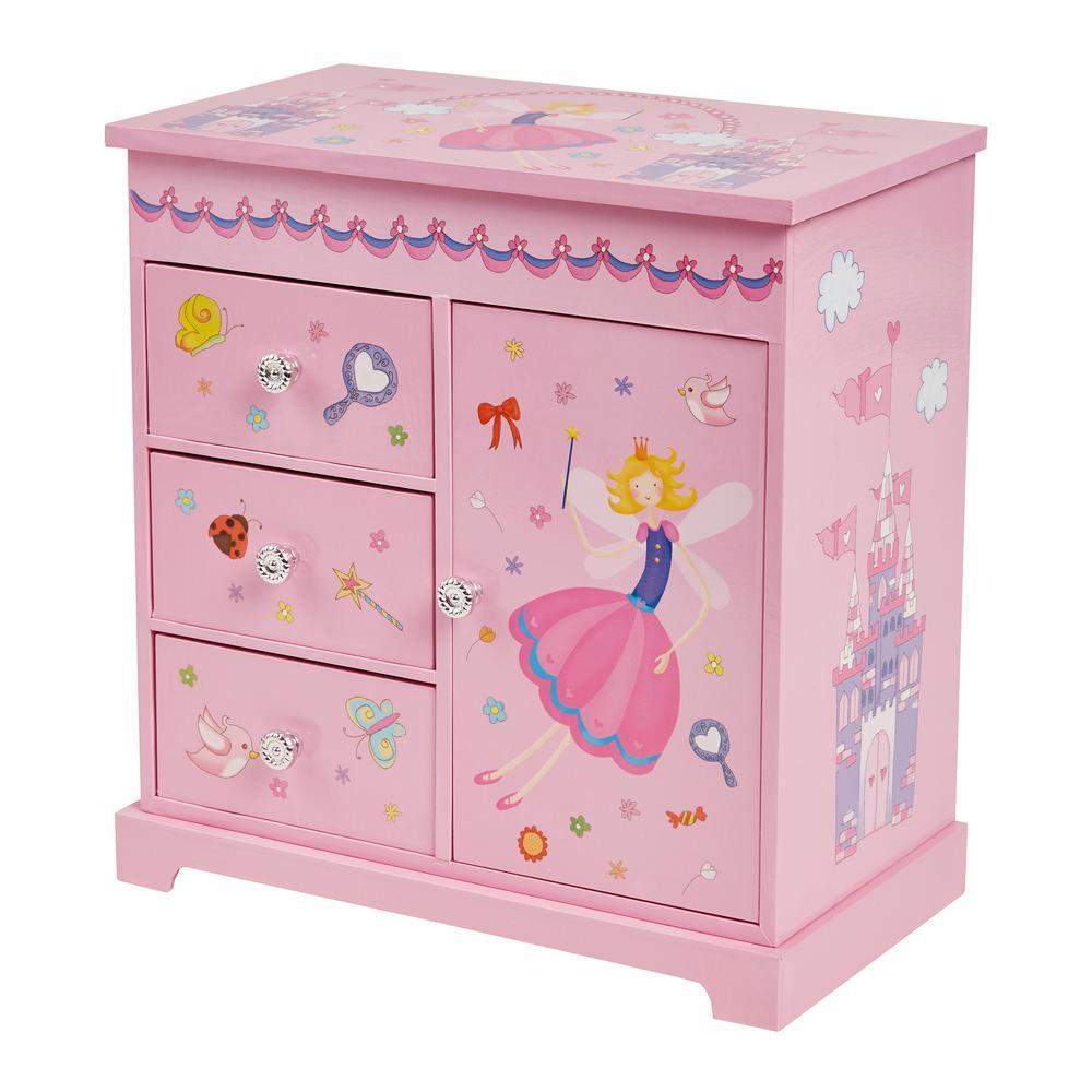 Krista Girl's Pink Fashion Paper Musical Ballerina Jewelry Box