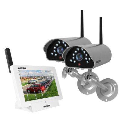 iSecurity 4-Channel 480TVL Digital Wireless Indoor/Outdoor 2 Cameras System with Remote Viewing