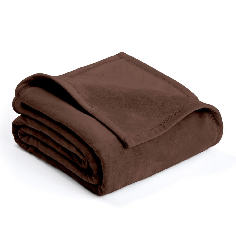 Plush Sage Polyester King Blanket