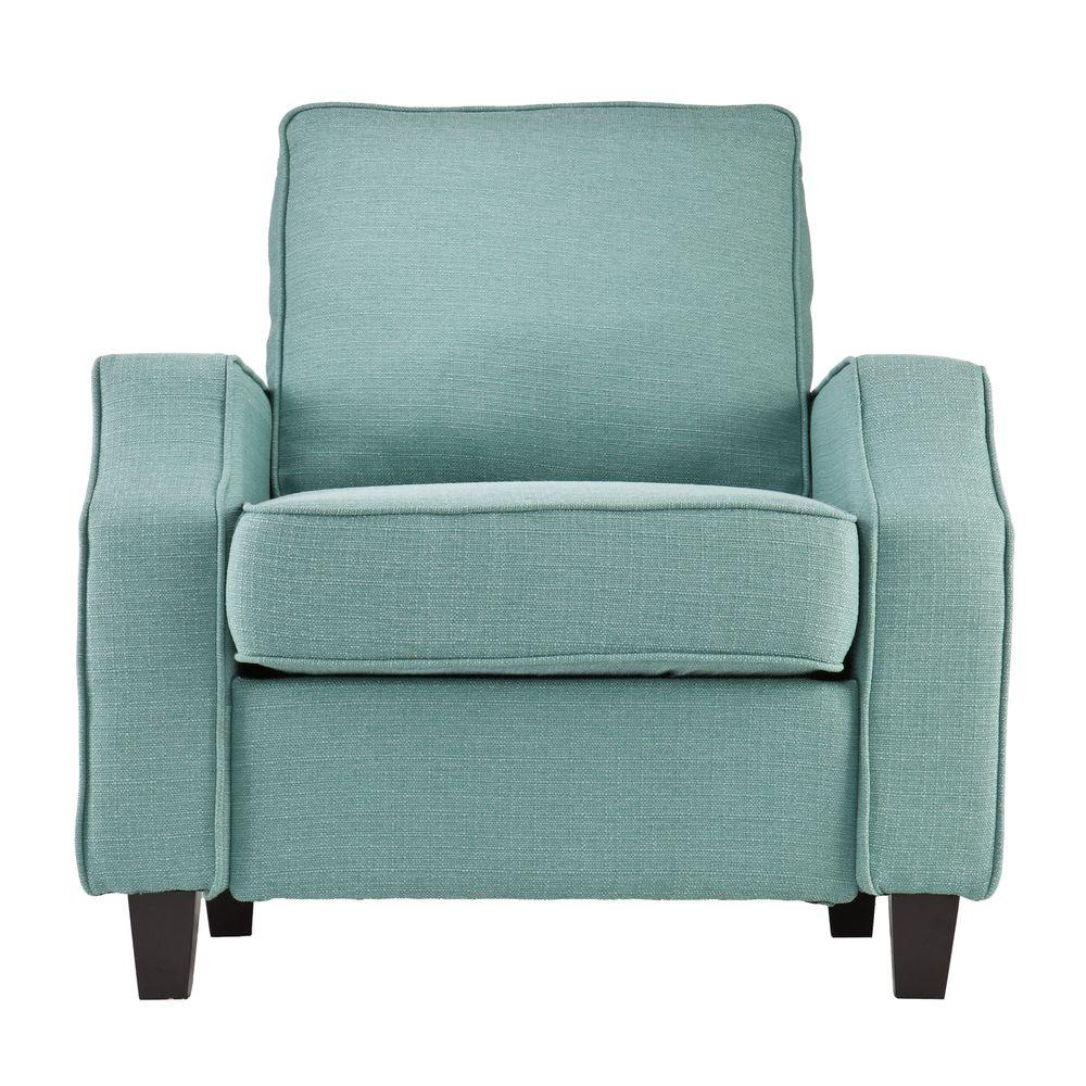 Southern Enterprises Padma Turquoise Polyester Upholstered Arm Chair
