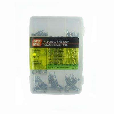 Assorted Nail Pack General Use (230-Piece)