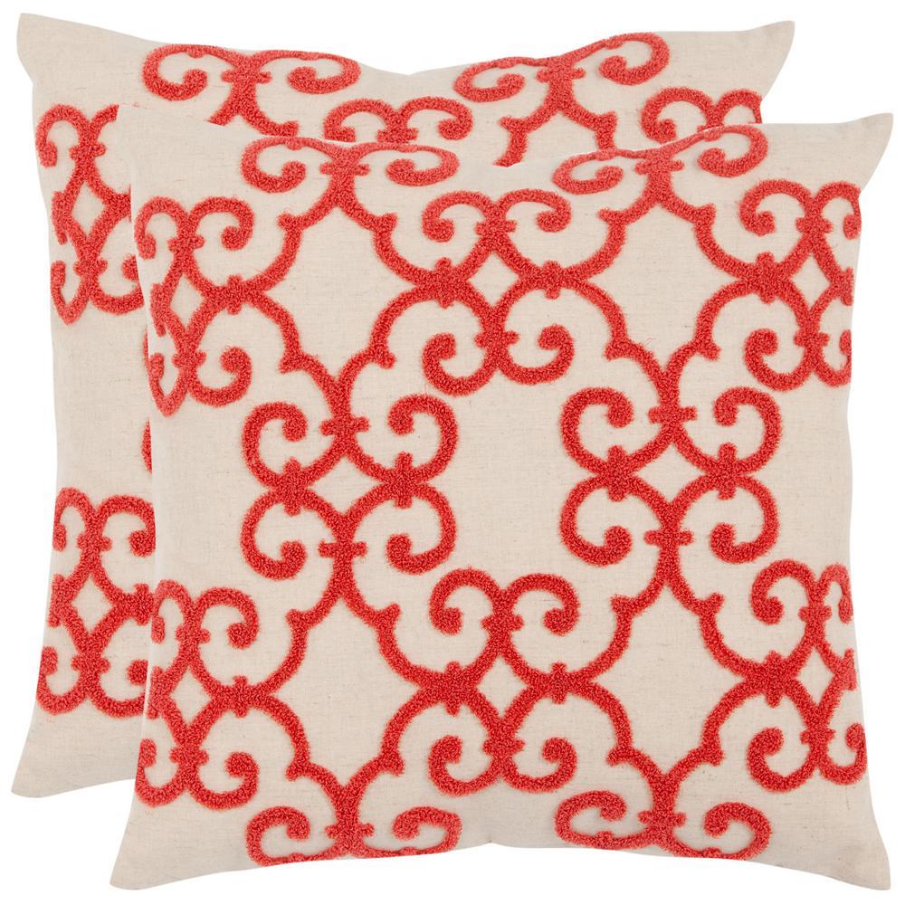 Sonya Embellished Applique Pillow (2-Pack)