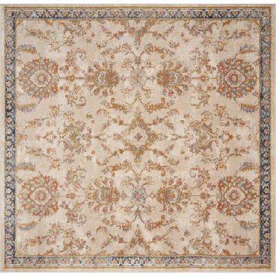 Manor Ivory Morrison 7 ft. x 7 ft. Traditional Square Area Rug