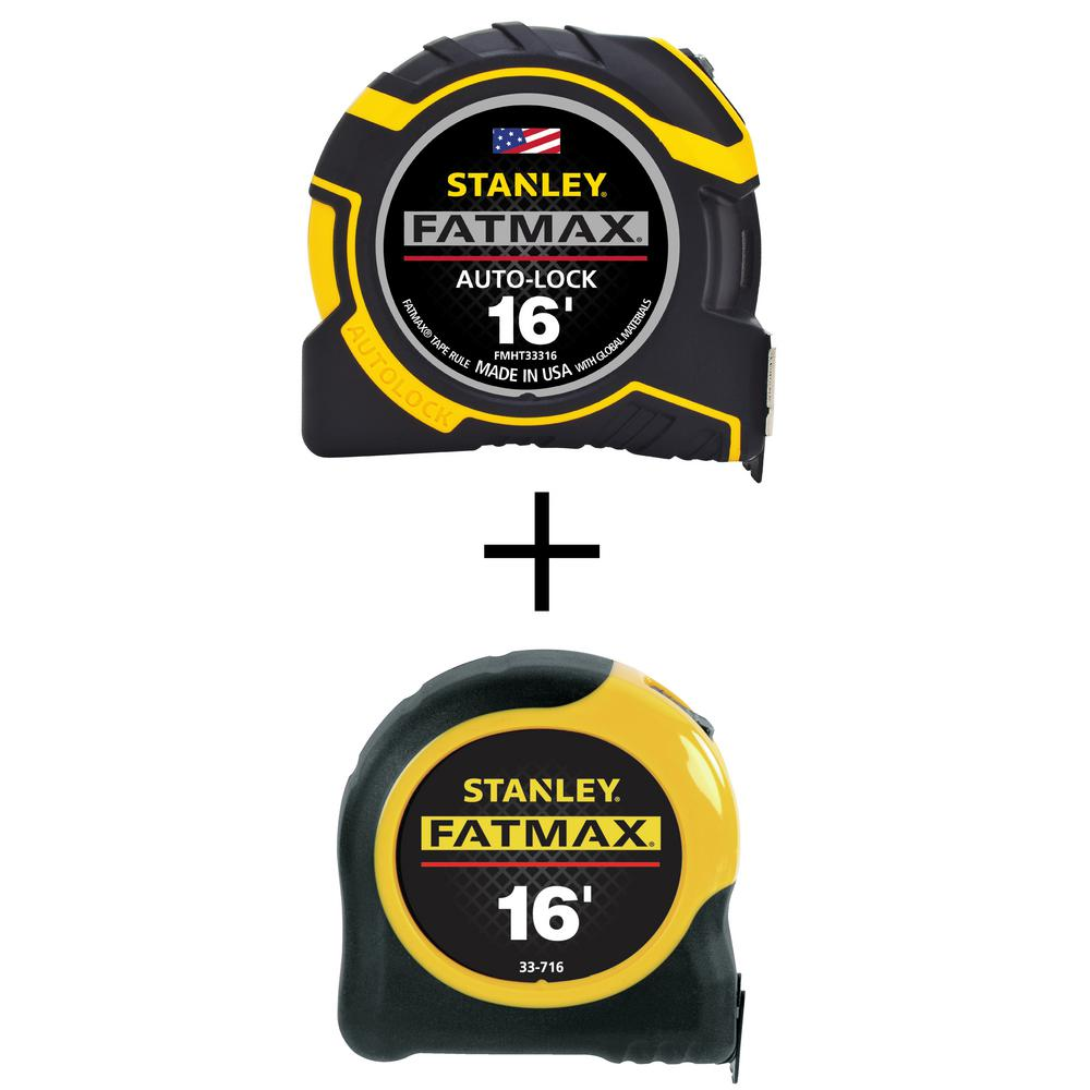 STANLEY Auto Lock Tape Measure FATMAX 30 ft Measuring Ruler x 1-1//4 in