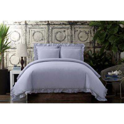 Voile Lavender Full / Queen Duvet Set