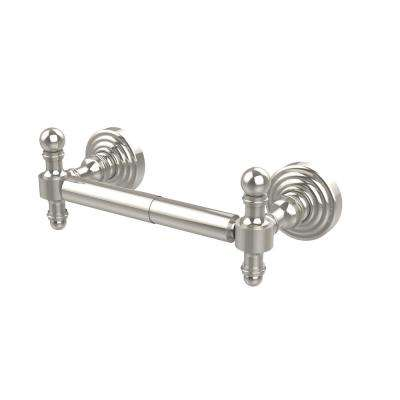 Retro Wave Collection Double Post Toilet Paper Holder in Polished Nickel