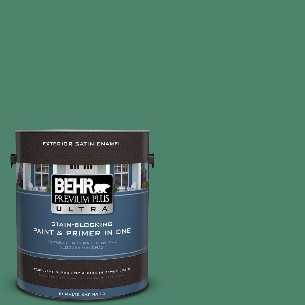 BEHR Premium Plus Ultra 1-gal. #480D-6 Billiard Room Satin Enamel Exterior Paint