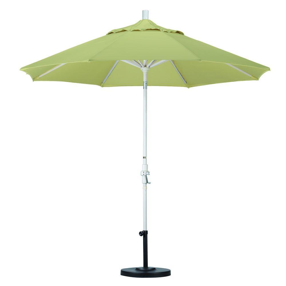California Umbrella 9 ft. Aluminum Collar Tilt Patio Umbrella in Beige Pacifica