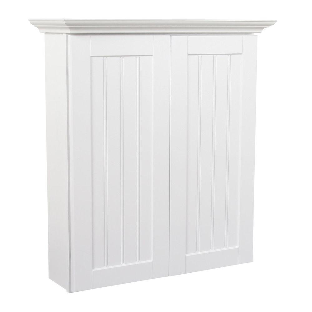 MasterBath Cottage 24 in. W Bath Storage Cabinet in Satin White