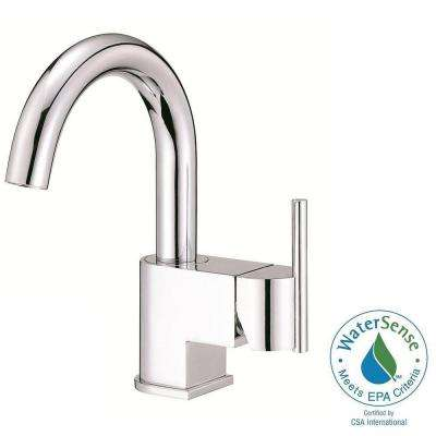 Como Single Hole 1-Handle High-Arc Bathroom Faucet with Side Handle in Chrome