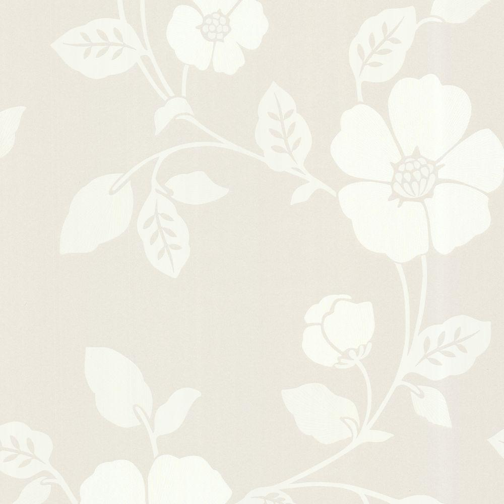 Beacon House Zync Off White Modern Floral Wallpaper