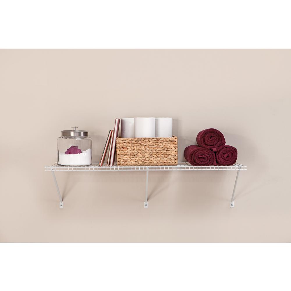 48 in. W x 16 in. D Steel White All-Purpose Shelf Kit