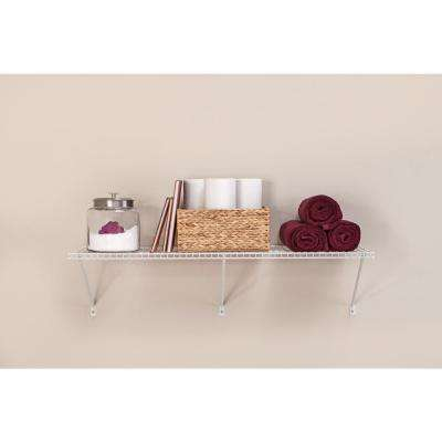 48 in. W x 16 in. D Steel White All-Purpose Shelf Kit