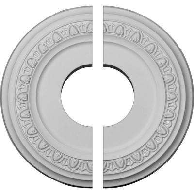 12-1/4 in. O.D. x 4 in. I.D. x 1-1/8 in. P Jackson Ceiling Medallion (2-Piece)