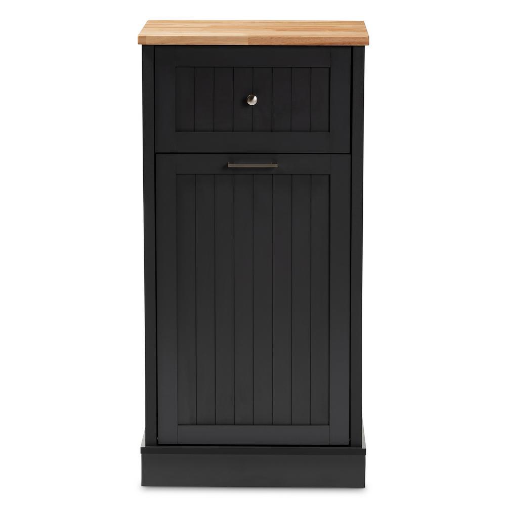 Marcel Dark Gray and Oak Brown Kitchen Cabinet
