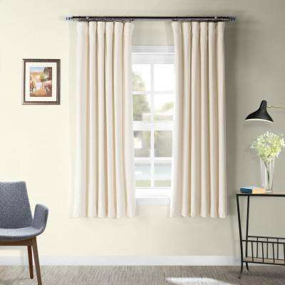 Signature Ivory Blackout Velvet Curtain - 50 in. W x 63 in. L