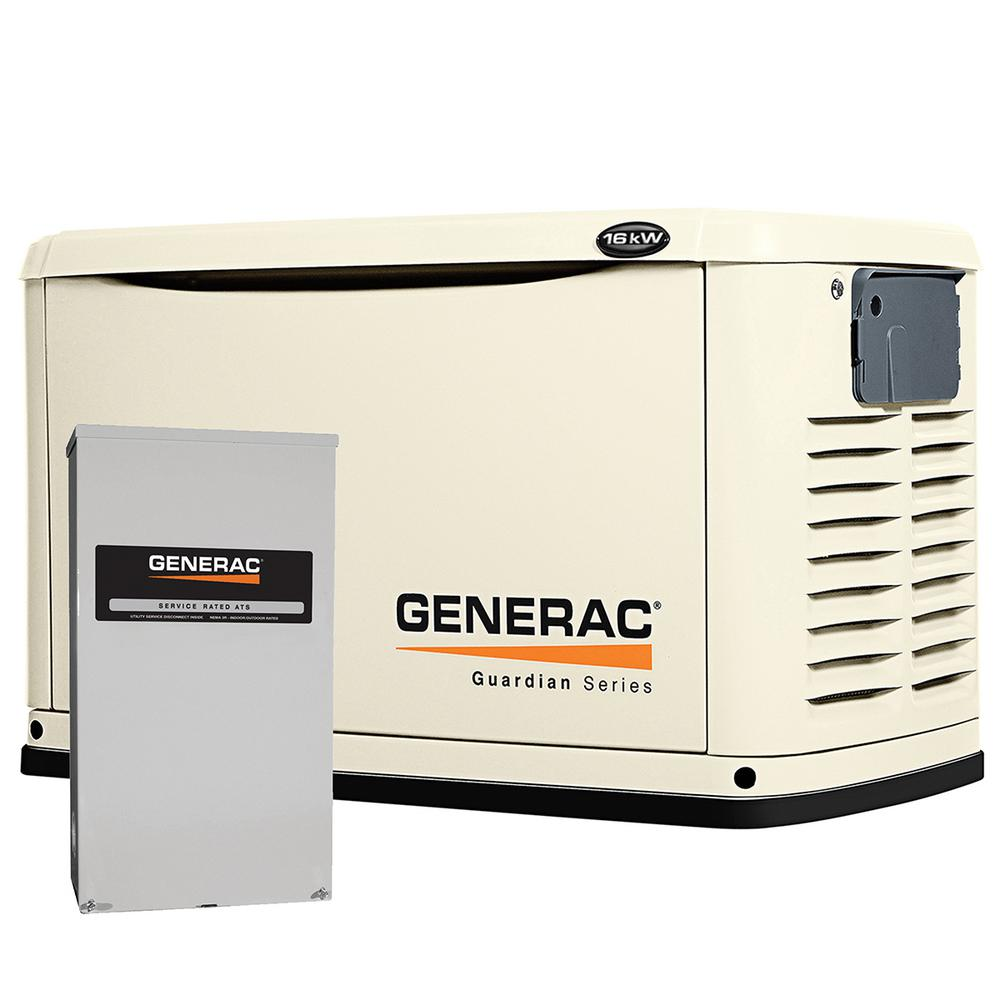 Generac 16,000-Watt Air Cooled Automatic Standby Generator with 200 Amp SE Rated Transfer Switch