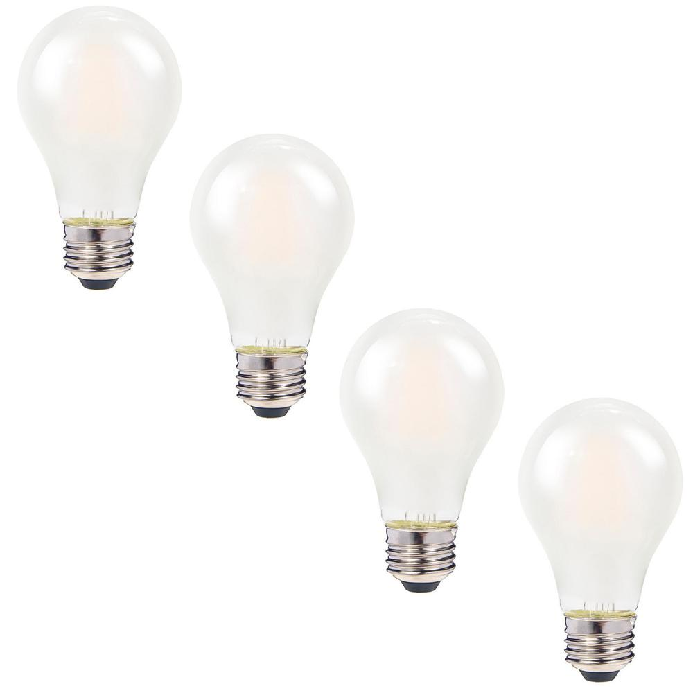 Bulbrite 40w Equivalent Warm White Light A19 Dimmable Led: 40W Equivalent Frosted Warm White A19 Dimmable Child-Safe