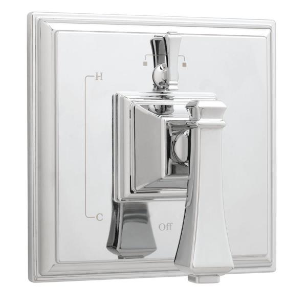 Rainier 2-Handle Square Shower Valve and Trim in Polished Chrome (Valve Included)