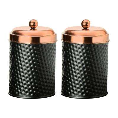 Ashby 24 oz. 2-Piece Metal Storage Canister Set with Copper Lids