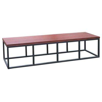 16.5 in. x 77 in. x 18 in. Spa Bench in Mahogany