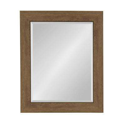 Boardwalk Rectangle Brown Accent Mirror