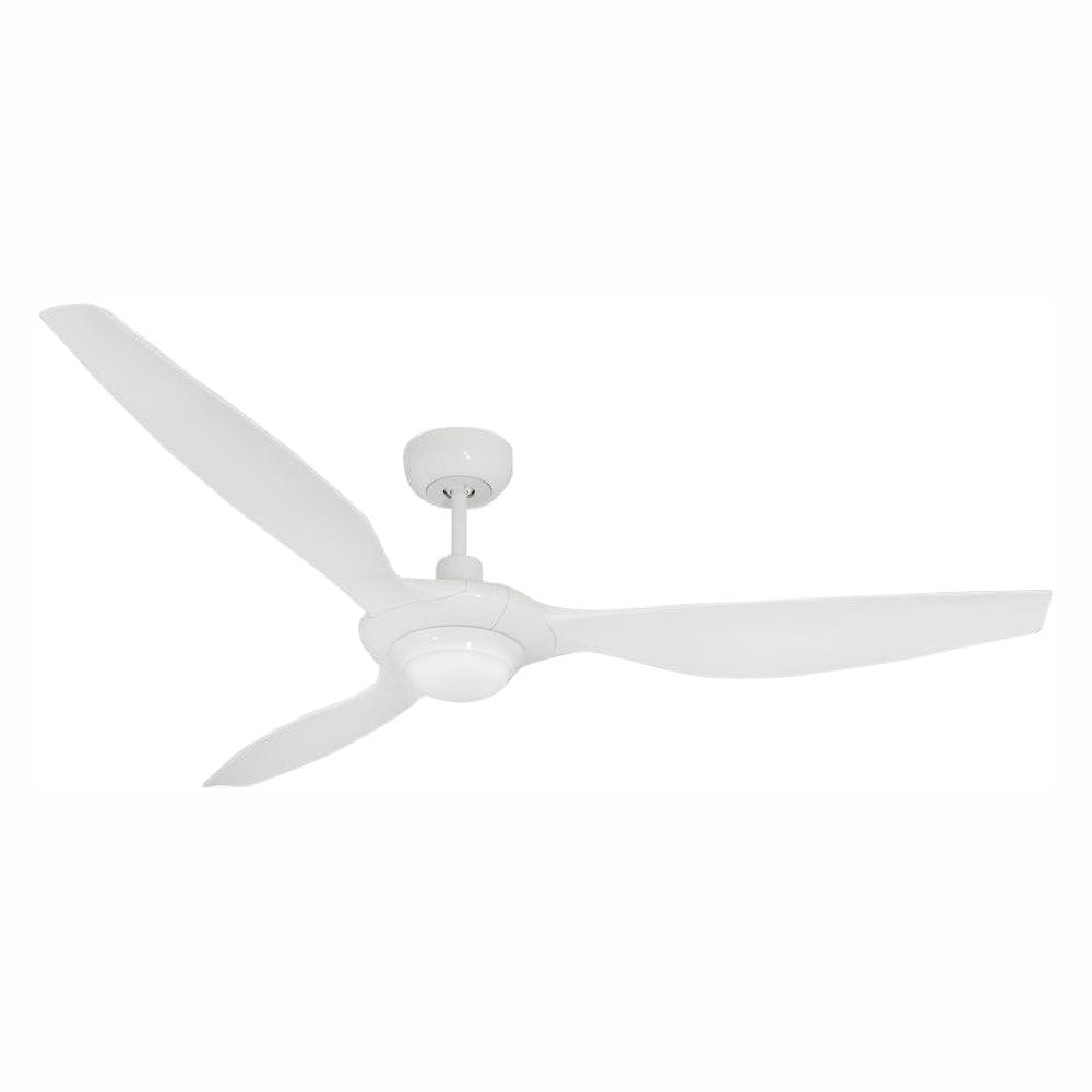 TroposAir Vogue Plus 60 in. LED Indoor/Outdoor Pure White Ceiling Fan