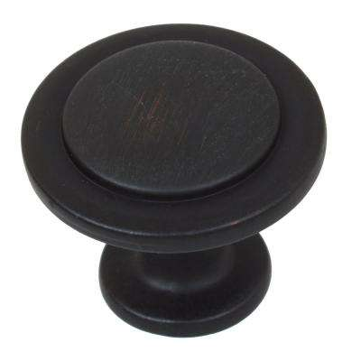 1-1/4 in. Dia Oil Rubbed Bronze Classic Round Ring Cabinet Knobs (10-Pack)