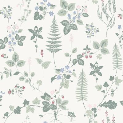 Stormare Light Green Botanical Wallpaper