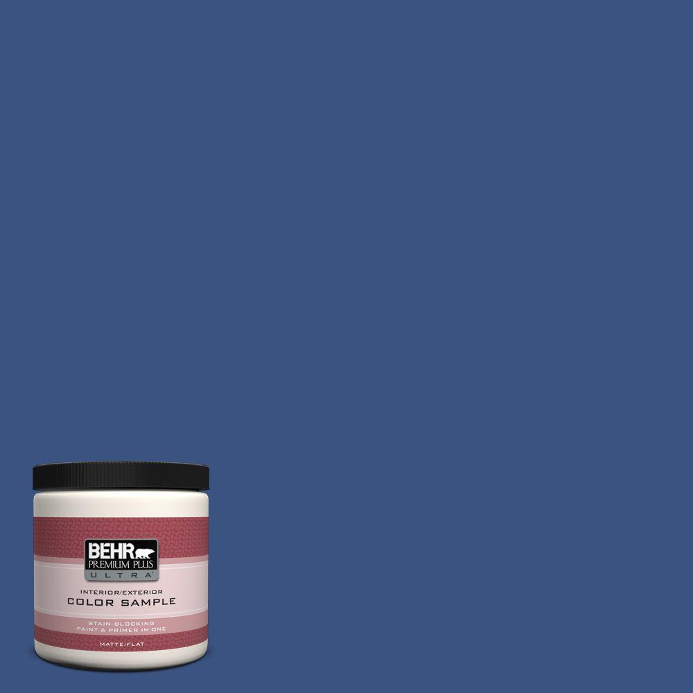 BEHR Premium Plus Ultra 8 oz. #S-G-600 Deep Azure Interior/Exterior Paint Sample