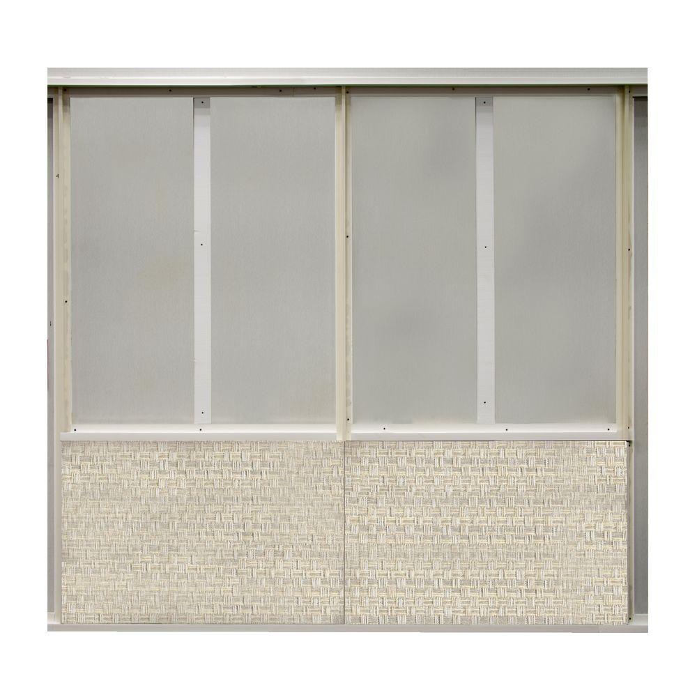 20 sq. ft. Ivory Fabric Covered Bottom Kit Wall Panel